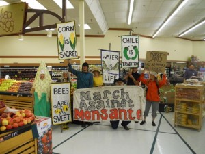 Visiting the grocery stores was amazing and rewarding at March Against Monsanto in Taos, NM Spring 2014