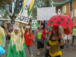 Marleny, Josie, Kate, and many more at March Against Monsanto in Taos, NM Spring 2014. Photo by Dariel Garner
