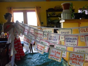 Love-In-Action Taos painted nearly 100 banners of inspirational leaders for social justice, both living and passed on.